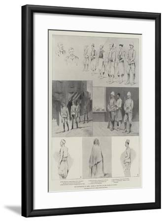 The Disturbances in Crete, Scenes at the Trial of the Rioters at Candia-Charles Auguste Loye-Framed Giclee Print