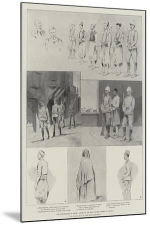 The Disturbances in Crete, Scenes at the Trial of the Rioters at Candia-Charles Auguste Loye-Mounted Giclee Print