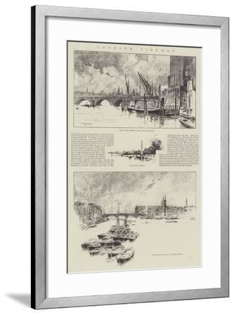 London's Tideway-Charles Auguste Loye-Framed Giclee Print