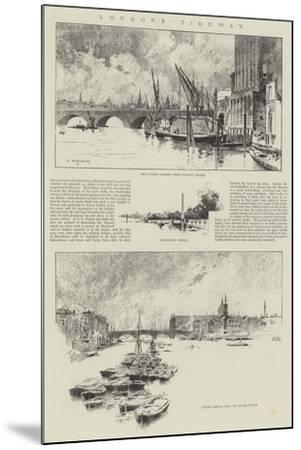 London's Tideway-Charles Auguste Loye-Mounted Giclee Print