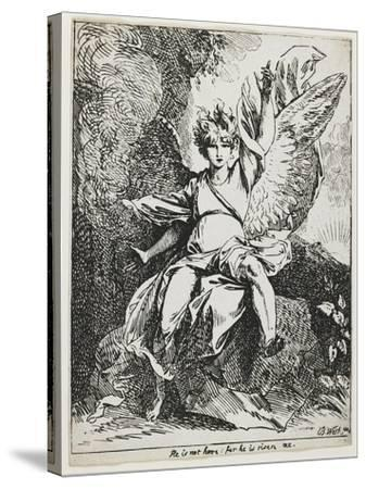The Angel of the Resurrection , from Specimens of Polyautography, 1801 (Published 1803)-Benjamin West-Stretched Canvas Print