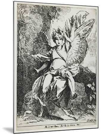 The Angel of the Resurrection , from Specimens of Polyautography, 1801 (Published 1803)-Benjamin West-Mounted Giclee Print