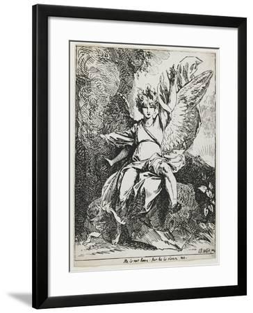 The Angel of the Resurrection , from Specimens of Polyautography, 1801 (Published 1803)-Benjamin West-Framed Giclee Print