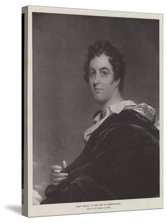 Lord Byron, at the Age of Thirty-Four-Benjamin West-Stretched Canvas Print