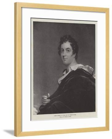 Lord Byron, at the Age of Thirty-Four-Benjamin West-Framed Giclee Print