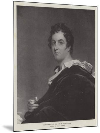 Lord Byron, at the Age of Thirty-Four-Benjamin West-Mounted Giclee Print