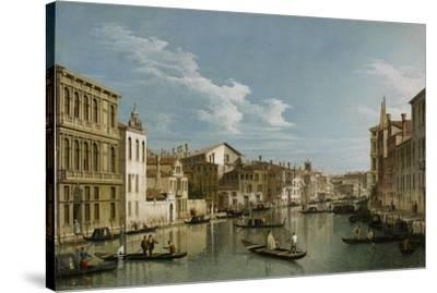 Grand Canal from Palazzo Flangini to Palazzo Bembo, C.1740-Canaletto-Stretched Canvas Print