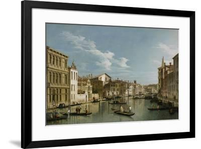 Grand Canal from Palazzo Flangini to Palazzo Bembo, C.1740-Canaletto-Framed Premium Giclee Print