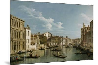Grand Canal from Palazzo Flangini to Palazzo Bembo, C.1740-Canaletto-Mounted Premium Giclee Print