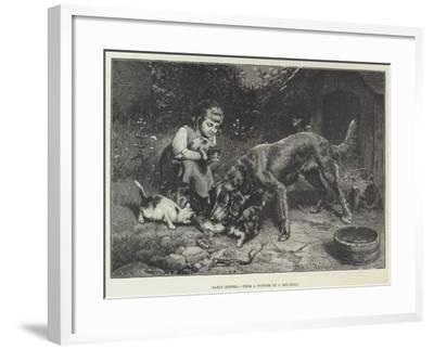 Early Dinner-Carl Reichert-Framed Giclee Print