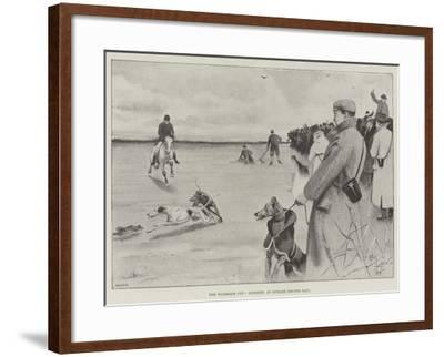 The Waterloo Cup, Coursing at Lydiate, Second Day-Cecil Aldin-Framed Giclee Print