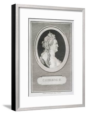 Catherine II (1729-96)-Augustin De Saint-aubin-Framed Giclee Print
