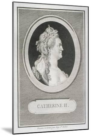 Catherine II (1729-96)-Augustin De Saint-aubin-Mounted Giclee Print