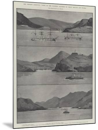 The Chinese Question, Views of the Stations Acquired by Great Britain and Russia-Charles Auguste Loye-Mounted Giclee Print