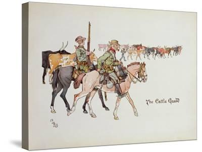 The Cattle Guard, from 'The Leaguer of Ladysmith', 1900-Captain Clive Dixon-Stretched Canvas Print
