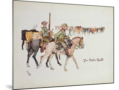 The Cattle Guard, from 'The Leaguer of Ladysmith', 1900-Captain Clive Dixon-Mounted Giclee Print
