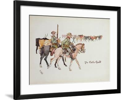 The Cattle Guard, from 'The Leaguer of Ladysmith', 1900-Captain Clive Dixon-Framed Giclee Print