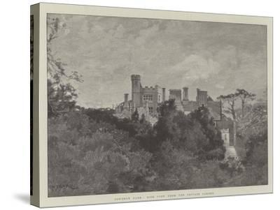 Cowdray Park, Side View from the Private Garden-Charles Auguste Loye-Stretched Canvas Print