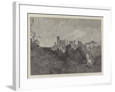 Cowdray Park, Side View from the Private Garden-Charles Auguste Loye-Framed Giclee Print