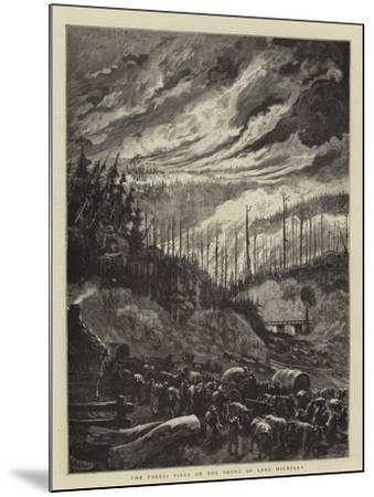 The Forest Fires on the Shore of Lake Michigan-Charles Auguste Loye-Mounted Giclee Print
