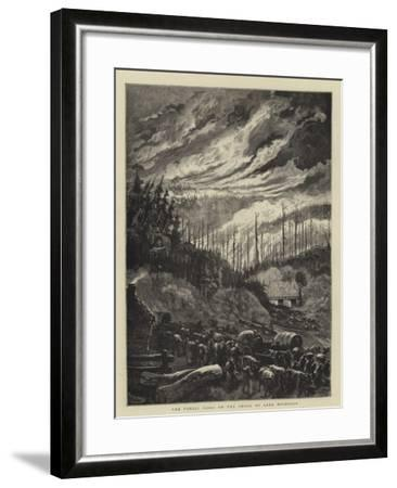 The Forest Fires on the Shore of Lake Michigan-Charles Auguste Loye-Framed Giclee Print