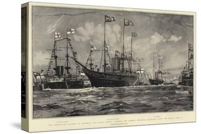 The Coronation Review at Spithead-Charles Edward Dixon-Stretched Canvas Print