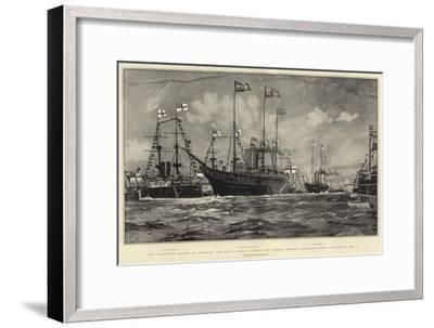 The Coronation Review at Spithead-Charles Edward Dixon-Framed Giclee Print