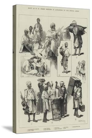 Egypt as it Is, Street Sketches in Alexandria-Charles Auguste Loye-Stretched Canvas Print