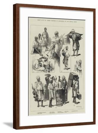 Egypt as it Is, Street Sketches in Alexandria-Charles Auguste Loye-Framed Giclee Print