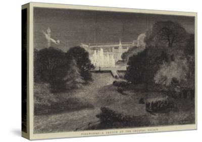 Fireworks, a Sketch at the Crystal Palace-Charles Auguste Loye-Stretched Canvas Print