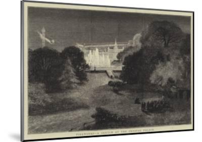 Fireworks, a Sketch at the Crystal Palace-Charles Auguste Loye-Mounted Giclee Print