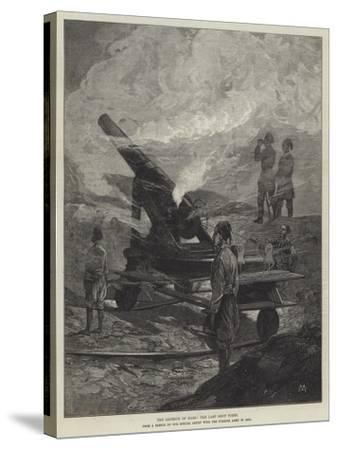 The Defence of Kars, the Last Shot Fired-Charles Auguste Loye-Stretched Canvas Print