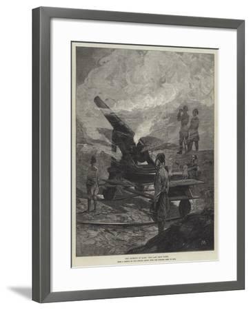 The Defence of Kars, the Last Shot Fired-Charles Auguste Loye-Framed Giclee Print