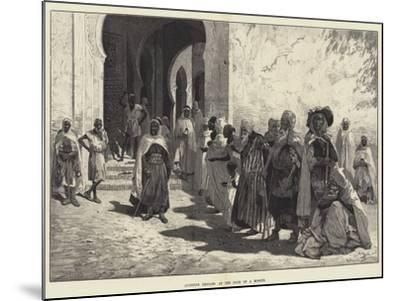 Algerine Beggars at the Door of a Mosque-Charles Auguste Loye-Mounted Giclee Print