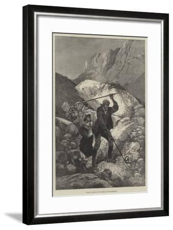 Killing Vipers in the Forest of Fontainebleau-Charles Auguste Loye-Framed Giclee Print