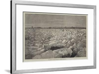 The Winter in France, the Loire at Saumur-Charles Auguste Loye-Framed Giclee Print