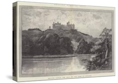 Belvoir Castle, the Seat of the Duke of Rutland-Charles Auguste Loye-Stretched Canvas Print