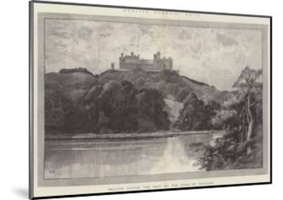 Belvoir Castle, the Seat of the Duke of Rutland-Charles Auguste Loye-Mounted Giclee Print
