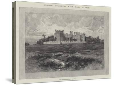 Raby Castle, View from the Fields Near the Road-Charles Auguste Loye-Stretched Canvas Print