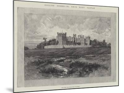 Raby Castle, View from the Fields Near the Road-Charles Auguste Loye-Mounted Giclee Print