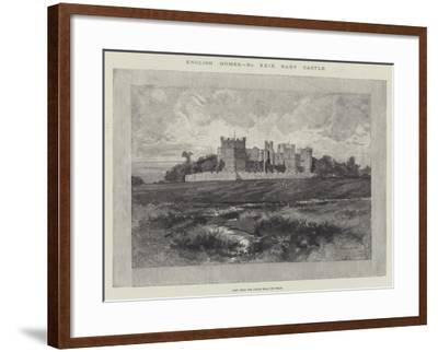Raby Castle, View from the Fields Near the Road-Charles Auguste Loye-Framed Giclee Print