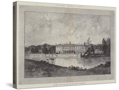 Clumber Park, the Seat of the Duke of Newcastle-Charles Auguste Loye-Stretched Canvas Print