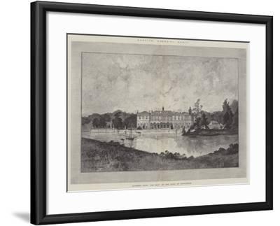 Clumber Park, the Seat of the Duke of Newcastle-Charles Auguste Loye-Framed Giclee Print