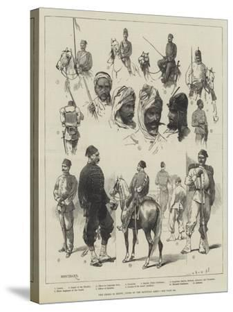 The Crisis in Egypt, Types of the Egyptian Army-Charles Auguste Loye-Stretched Canvas Print