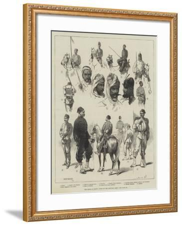 The Crisis in Egypt, Types of the Egyptian Army-Charles Auguste Loye-Framed Giclee Print