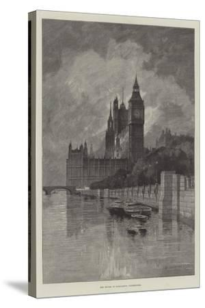 The Houses of Parliament, Westminster-Charles Auguste Loye-Stretched Canvas Print