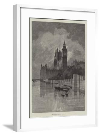 The Houses of Parliament, Westminster-Charles Auguste Loye-Framed Giclee Print
