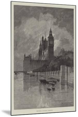 The Houses of Parliament, Westminster-Charles Auguste Loye-Mounted Giclee Print