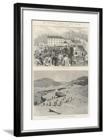 The Collieries Strike in South Wales-Charles Auguste Loye-Framed Giclee Print