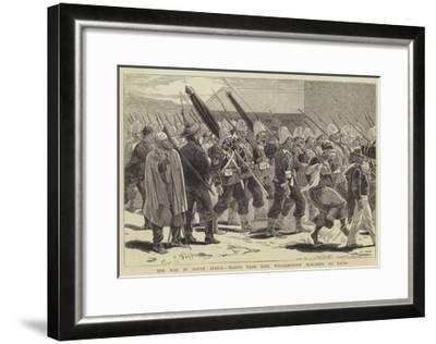 The War in South Africa, Troops from King Williamstown Marching to Natal-Charles Edwin Fripp-Framed Giclee Print
